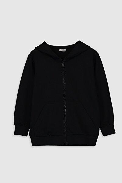 Erkek Çocuk Yeni Siyah Cvl Sweatshirt