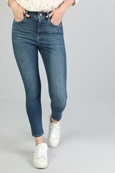 KADIN 760 Dıana Yüksek Bel Dar Paça Super Slim Fit Mavi Kadın Jean Pantolon CL1045984