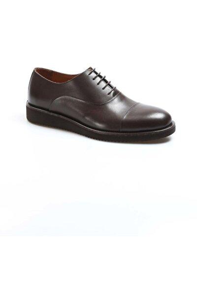 Klasik Ayakkabı Hakiki Deri Kahve Erkek Oxford Ayakkabı 822ma052