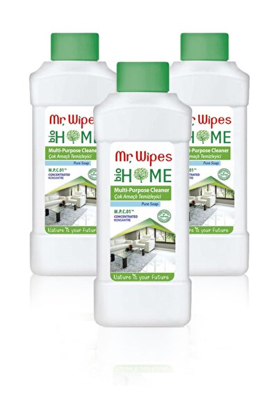 Mr. Wipes Konsantre Çok Amaçlı Temizleyici Pure Soap-500 ml x 3'lü Set