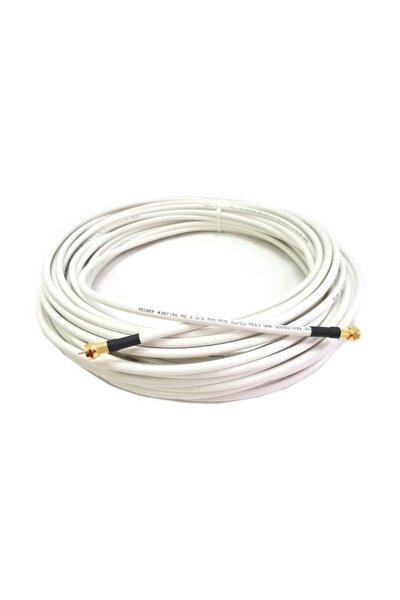 Hazır Uydu Anten Kablosu Gold F Konnektörlü 10 Metre Full Hd Uyumlu Rg6 80 Tel