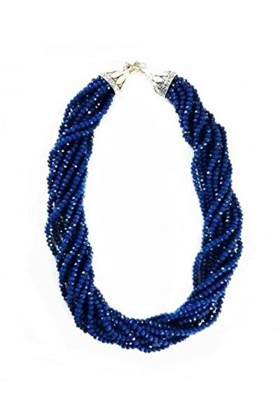 Mavi Kristal Taş Kadın Kolye