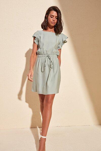 Mint Kolları Volanlı Elbise TWOSS20EL0973