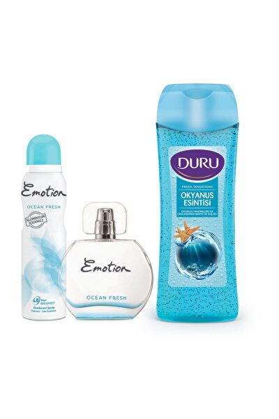 Ocean Fresh Edt Parfüm 50ml + Deodorant 150ml Ve Duru Duş Jeli 450ml