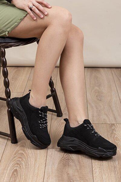 Kadın  Spor  Siyah Süet Ayakkabı