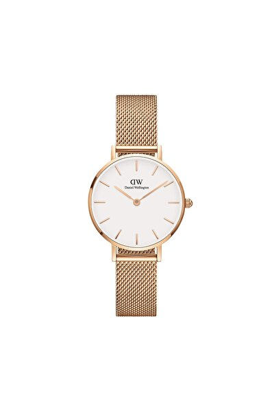 Women Rose Gold and White Petite Melrose Watch 28 mm