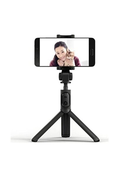 Bluetooth Uzaktan Kumanda Tripod Selfie Çubuğu-Siyah