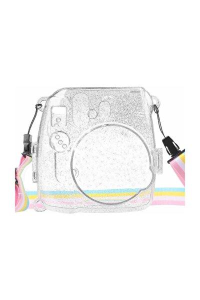 Fujifilm Instax Mini 8-9 Simli Şeffaf Koruyucu Kılıf Sert Plastik