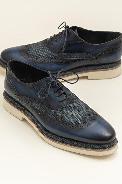 CARREY Hakiki Deri Lacivert Erkek Ayakkabı