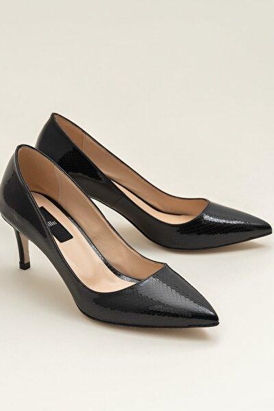 LANNA Siyah Yılan Kadın Ayakkabı