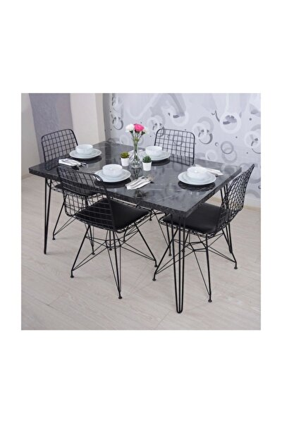 Masa Sandalye Takımı Mermer Desen 120x70 Cm