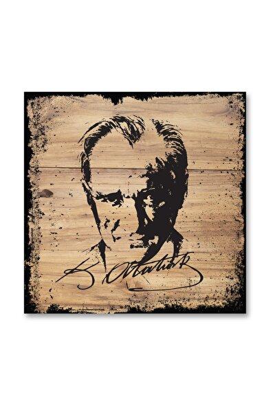 Atatürk Silüeti Ahşap Tablo