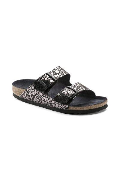 Unisex Metallic Stones Black Arizona Terlik  Sandalet