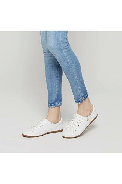 Kadın Beyaz Deri Sneaker 100249543