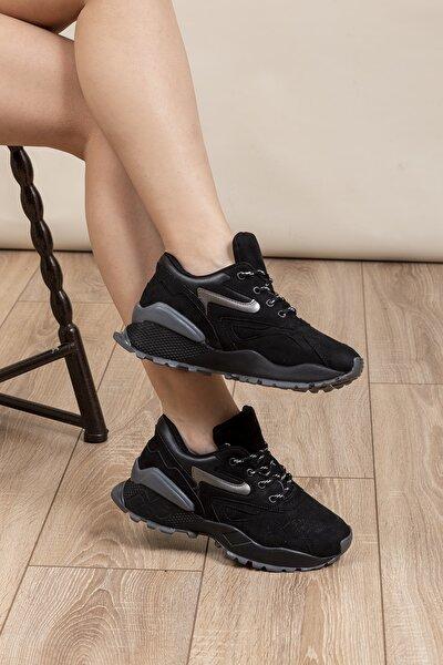 Siyah Kadın Sneaker TB508-1