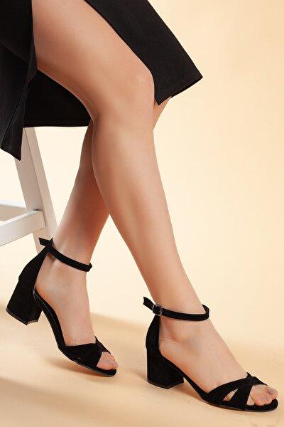 Siyah-Süet Kadın Ayakkabı DXTRFLRN204