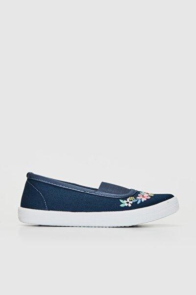 Kız Çocuk Lacivert Crp Babet Ayakkabı