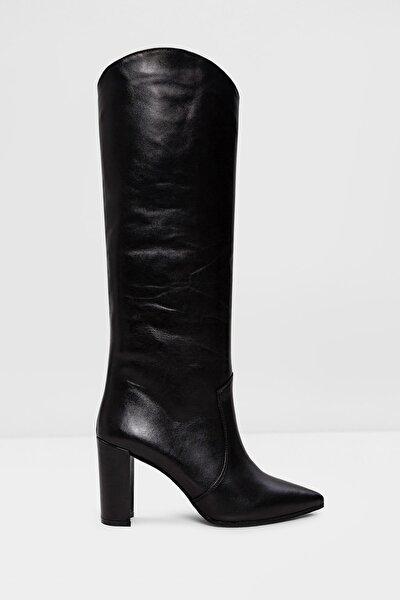 Hakiki Deri Havısa-tr - Siyah Kadın Topuklu Çizme