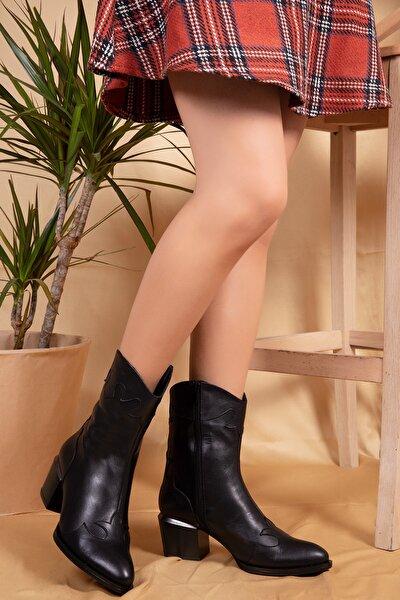 Hakiki Deri Kovboy Çizmesi