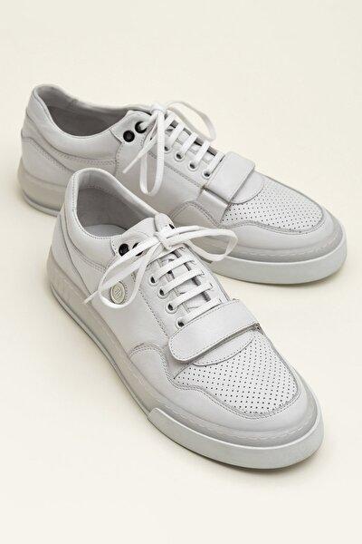 KEANAN Hakiki Deri Beyaz Kombin Erkek Ayakkabı
