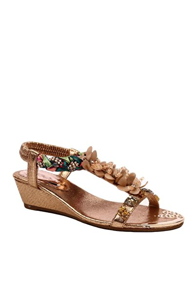 Altın Kadın Sandalet