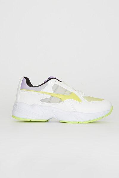 Kadın Floresan Sarı Sneaker 0S9184Z8