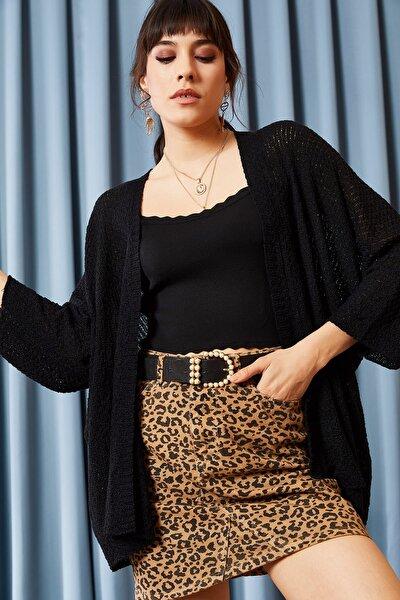 Kadın Siyah Yarasa Baharlık Hırka HRK-19000057