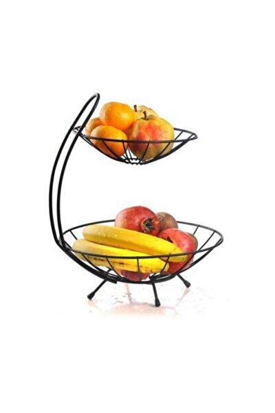 2 Katlı Metal Meyvelik