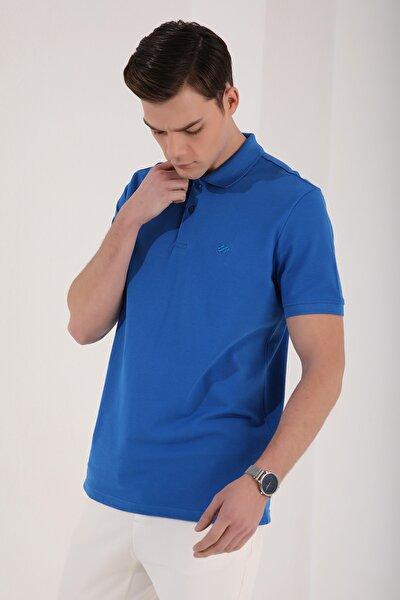 Polo Yaka Saks Erkek Tshirt T08ER-87748