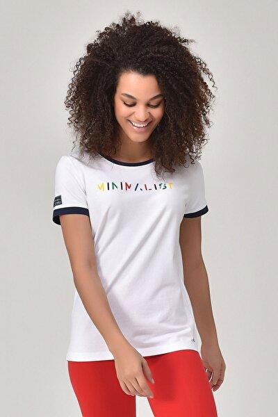 Beyaz Kadın T-shirt  GS-8070