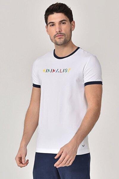 Beyaz Erkek T-shirt  GS-8250