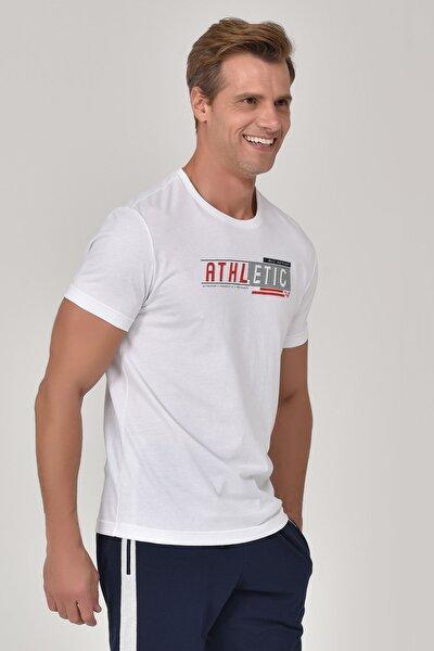 Beyaz Erkek T-shirt  GS-8812