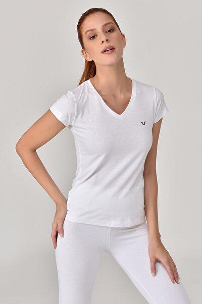 Beyaz Kadın T-Shirt GS-8087