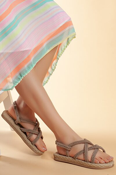Hasır Günlük Kadın Sandalet
