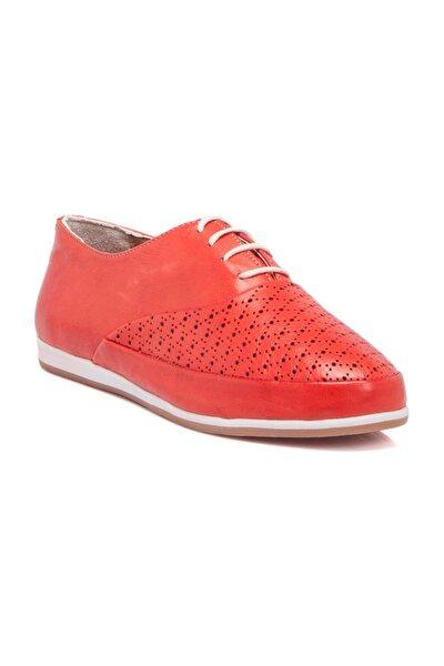 Hakiki Deri Kırmızı Kadın Sneaker K19I1AY64217