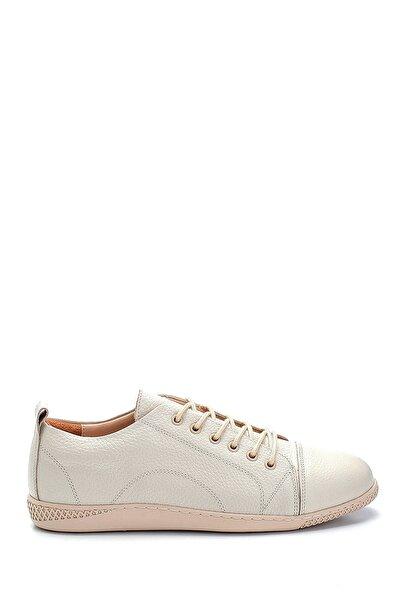 Kadın Bej Deri Sneaker
