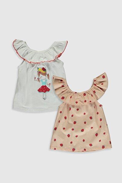 Kız Bebek Pembe Baskılı Lt4 Bluz