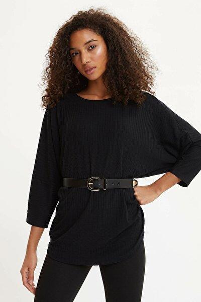 Kadın Siyah Regular Fit Uzun Kollu T-Shirt R3728AZ.20SP.BK27