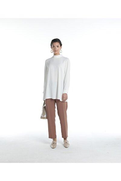 Kadın Ekru Bluz U27499510