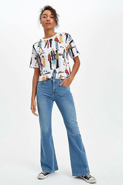 Kadın Mavi Kot Fashion Fit Jean Pantolon R3490AZ.20SP.NM39