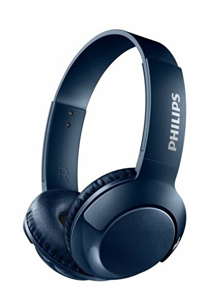 SHB3075Bl Mikrofonlu Kablosuz Kulak Üstü Kulaklık Mavi