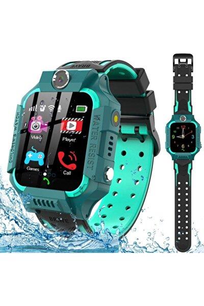 Q500/2021 Akıllı Çocuk Takip Saati Yeşil