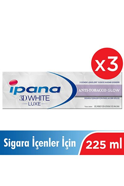 3 X 3 Boyutlu Beyazlık Luxe Diş Macunu Anti-tobacco Glow Sigara İçenler İçin 75 ml