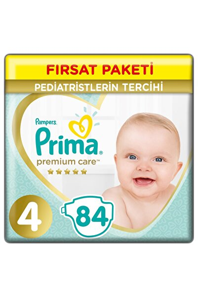Bebek Bezi Premium Care 4 Beden 84 Adet Maxi Fırsat Paketi