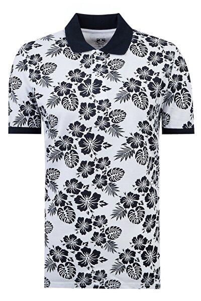 Beyaz Renk Erkek  T-shirt (Slim Fit)