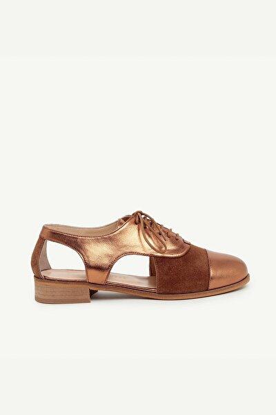 Kadın Tarçın Deri Ayakkabı 0YKAY4072X