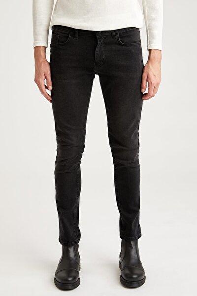 Pedro Slim Fit Normal Bel Dar Paça Siyah Jean Pantolon