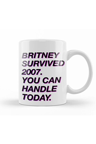Britney Survived 2007 Kupa Bardak Porselen