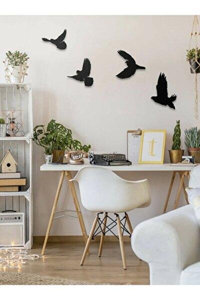 Dekoratif Modern Dörtlü Kuş Duvar Süsü