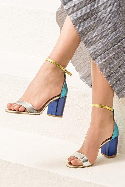 DUBLINN Gümüş Kombin Kadın Sandalet